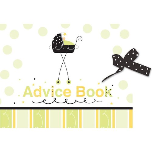 Advice Book w/Ribbon Stroller Fun - 6 Count