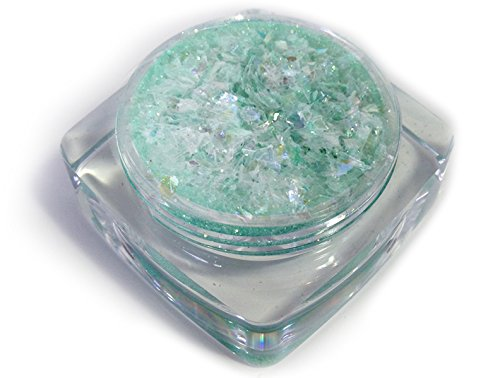 [Ice FX  Snow Frost Flakes Ice Cube, Green, One Size] (Ice Queen Makeup)