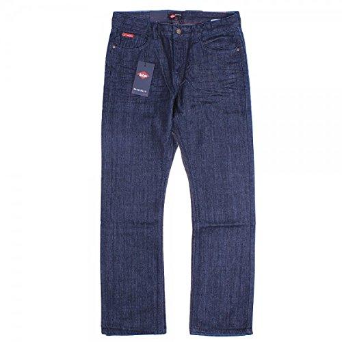 Lee Cooper Basicon da uomo gamba dritta Jeans, sciacquare Wash Dark Blue 30W x 34L