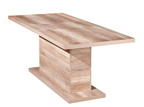 22500100 Esstisch Säulentisch Küchentisch Esszimmer Tisch Wildeiche 160 - 200 x 90 cm NEU