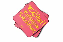 Thinkpot Stay excited! Enthusiasm creates revolutions Coaster (Set of 2)