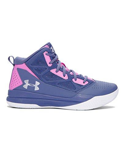 Under Armour Girls' Grade School UA Jet Mid Basketball Shoes 7 AURORA PURPLE
