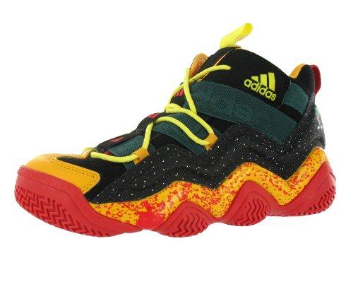 Adidas Kids' Top Ten 2000 Looney Toons Basketball Shoe Black, Orange, Red (7)