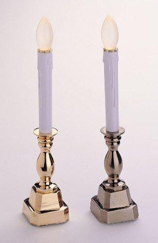 gki bethlehem lighting stowe battery operated 12 inch pewter candle. Black Bedroom Furniture Sets. Home Design Ideas