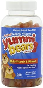 Yummi Bears Multi-Vitamin & Mineral, 200-Count Gummy Bears