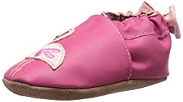 Robeez Pink The Flamingo Soft Sole Crib Shoe (Infant), Hot Pink, 6-12 Months M US