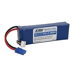 E-Flite 1800mAh 3S 11.1V 20C LiPo Battery, 13GA EC3