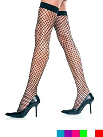 Lycra Industrial Net Thigh Hi Stockings - ONE SIZE