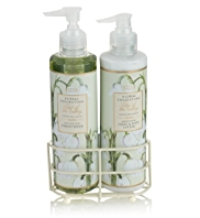 Floral Collection Lily of the Valley Twin Rack Set