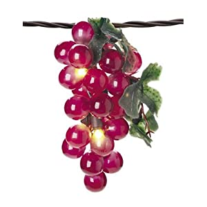 Click to buy Grape Cluster String Lights, Indoor-Outdoor, 35 Lights, Plug-in, RED from Amazon!