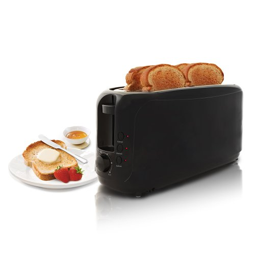 Elite Cuisine Ect-3803 Maximatic 4-Slice Long Slot Cool Touch Toaster