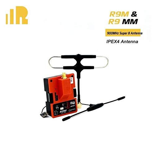 Part & Accessories R9M Module + R9 MM / / R9 Mini / R9 slim+900MHz Mini Receiver+ Original IPEX4 & super 8 Antenna combo - (Color: Red) (Color: Red)