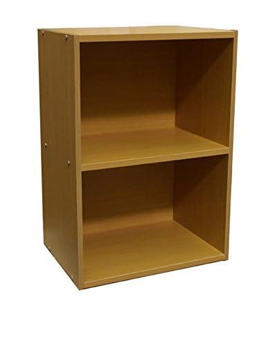 ORE International 2-Level Bookshelf, Brown