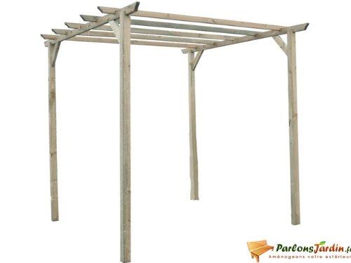 Gartenbank Holz Pergolensitz ~   160x62x220 cm Pergola aus Holz mit Rankelementen von Gartenpirat
