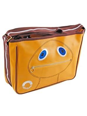 Retro Orange Zippy Rainbow Satchel Bag