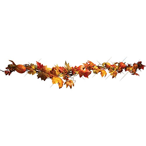 LED Lighted Fall Floral Garland,