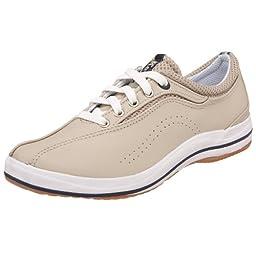 Keds Women\'s Spirit Leather Sneaker,Stone Leather,9 W