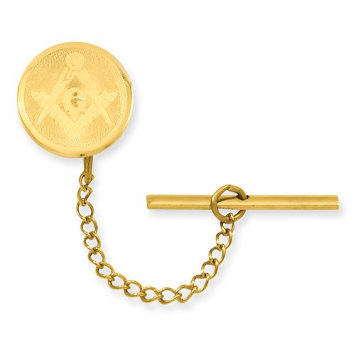Gold-plated with Chain Masonic Tie Tack Perfect Christmas Gift Idea