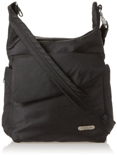 Travelon Anti-Theft Messenger Bag, Black, One Size image