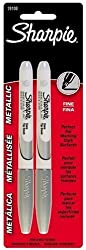 Sharpie Metallic Silver 2-Pack Permanent Marker Pens (1-Card)