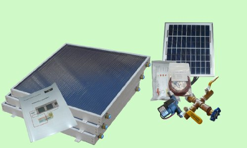 Complete 3 Panel Ez-Connect Hybrid Solar Water Heater Kit