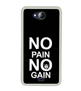 Life Quote 2D Hard Polycarbonate Designer Back Case Cover for Micromax Canvas Play Q355