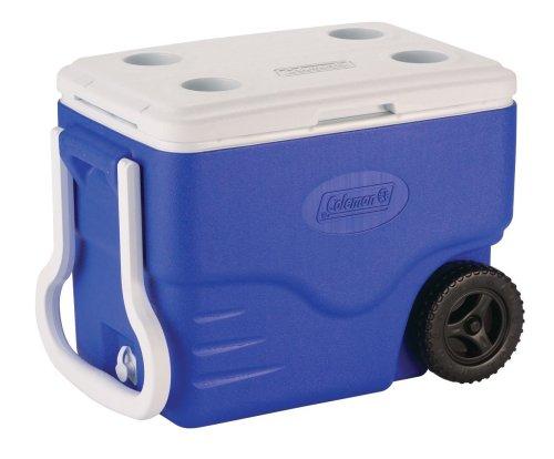 Coleman 40-Quart Wheeled Cooler, Blue
