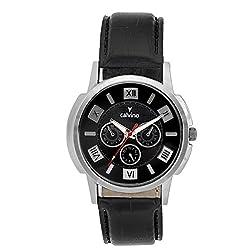 Calvino Mens Black Dial Watch CGAS_1412118_Blk Blk