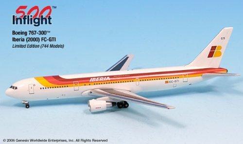 iberia-ec-gti-boeing-767-300-er-airplane-miniature-model-snap-fit-1500-part-a015-if5763003-by-genesi