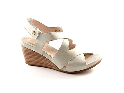 STONEFLY 104254 ice scarpe donna sandali zeppa pelle strappo 39