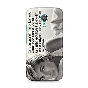 Motivatebox-Moto E2 (Second Generation) cover-Princess diana Amazing Polycarbonate 3D Hard case protective back cover. Premium Quality designer Printed 3D Matte finish hard case back cover.