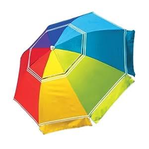 Nautica Rainbow Beach Umbrella Patio Lawn