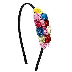 Emblished Multicolor Paper Flower Hair Band For Girls/Kids