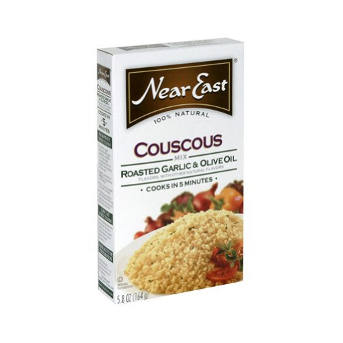 Near East Roasted Garlic & Olive Oil Couscous Mix, 5.8-Ounce Boxes (Pack of 12)