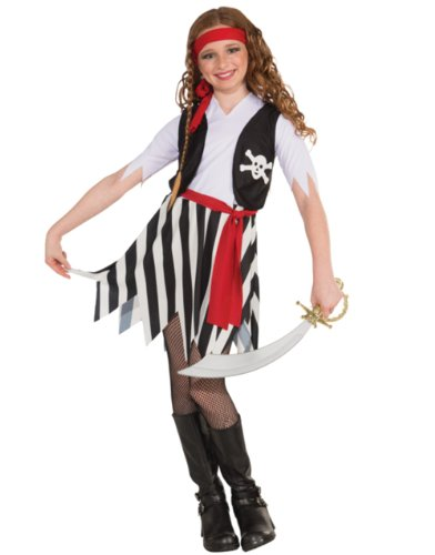 Little Lady Buccaneer Costume, Child Medium