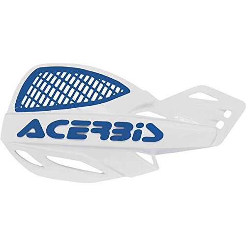 White/Blue Acerbis Uniko Vented Handguards - 207267-1029 (Vented Hand Guard compare prices)