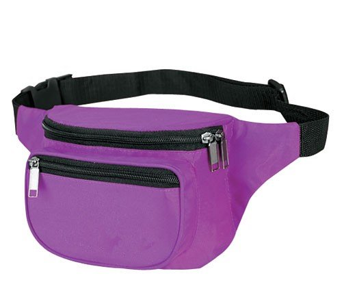Yens® Yens® Fantasybag 3-Zipper Fanny Pack-Purple FN-03