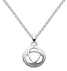 """Heritage Womens Sterling Silver Trilogy Necklace 9344SB, 18"""""""