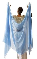 Nahari Silks 100% Silk Veil, Skywater 3 Yd