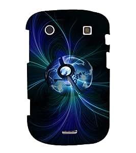 PrintVisa Modern Art Earth 3D Hard Polycarbonate Designer Back Case Cover for Blackberry 9900