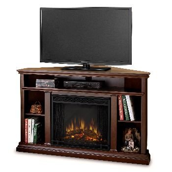 Churchill Corner Espresso Entertainment Unit And Electric Fireplace