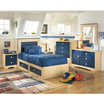 Blue Berry Pie Youth Captain's Bedroom Set by Signature Design