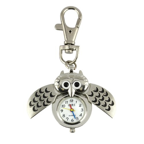Owl Watch w / Keychain Clip Pocket Watch