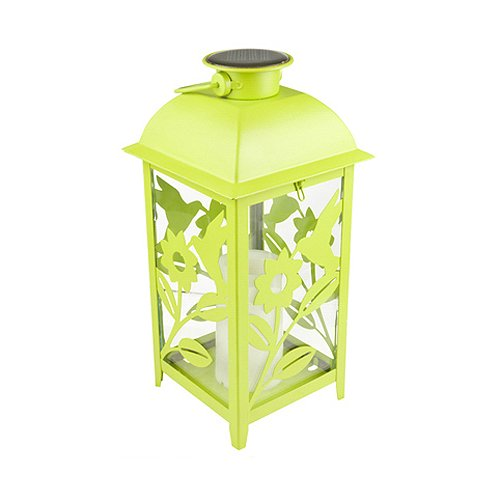 Northern Int'l GL28069GN Solar Lantern, 11-Inch, Green
