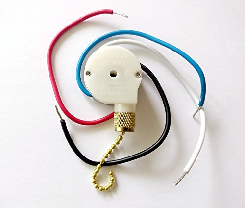 genuine zing ear ze 109 ceiling fan pull chain switch replacement 2 wire on switch for