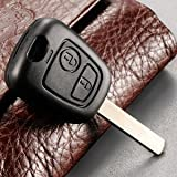 2 Button Key Fob Remote Shell case For Peugeot 207 307 407 Citroen C1 C2 C3 C4 C5 XSARA PICASSO