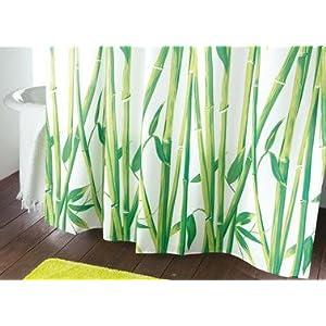 Rideau de douche bambou transparent design - Rideau de douche bambou ...