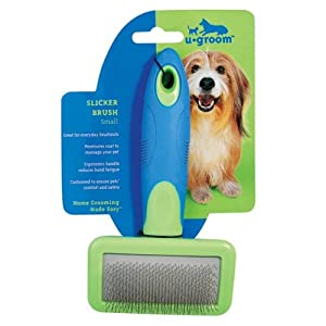 UGroom Pet Slicker Brush with Stainless Steel Pins, Small