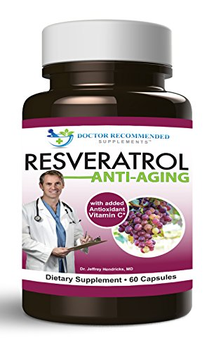 Doctor Recommended Resveratrol Anti Aging Capsules, 60 Count