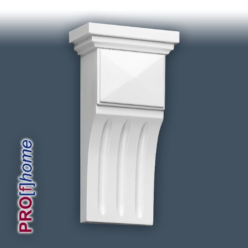 B414 Corbel is a beautifully sculpted mini-corbel. The primary use application is for above either side of an internal doorway, especially in restaurants and hotels. Three fluted grooves (Cat's Claw detail) swoop down from a shallow pyramid profile, which